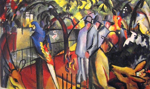 august macke dierentuin tiergarten zoo Der Blaue Reiter: Franz Marc, August Macke. Paul Klee in de dierentuin