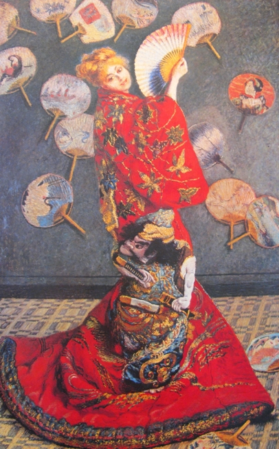 claude monet madame monet in japanese costume 1876 Vrouw in kimono bij Vincent van Gogh, Georg Breitner, Claude Monet