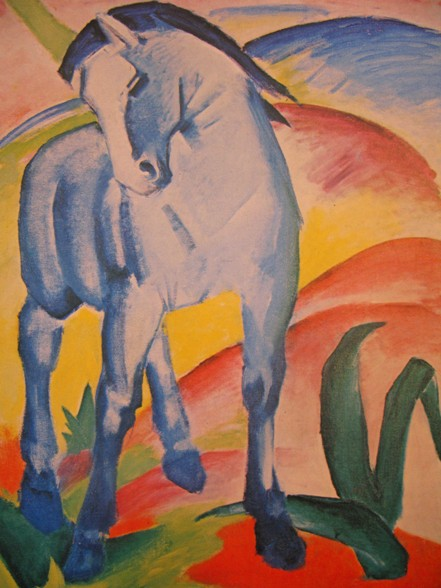 franz marc blaues pferd1 1911 Ontaarde paarden/Franz Marc, Kees van Dongen en anderen