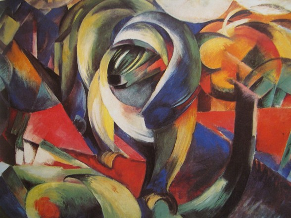 franz marc der mandrill 1913 Der Blaue Reiter: Franz Marc, August Macke. Paul Klee in de dierentuin