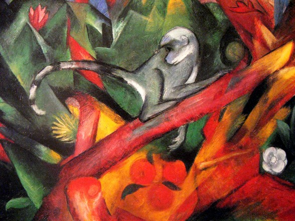 franz marc het aapje affe monkey Der Blaue Reiter: Franz Marc, August Macke. Paul Klee in de dierentuin