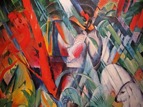 franz marc im regen Regendag in de kunst