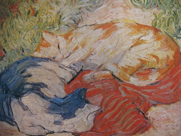 franz marc zwei katzen auf rotem tuch 1909 De Blaue Reiter: poezen/ Paul Klee, Franz Marc
