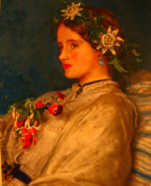 john everett millais in gedachten verzonken passiebloem passionflower1859 Gemuteerde passiebloem en passiebloem met slang