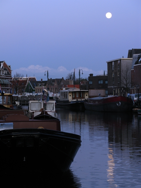 maan haven leiden moon harbour mond hafen Maan en haven/ Manet/Lepine