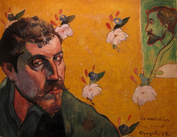 paul gaugin zelfportret opgedragen vincent van gogh 1888 self portait Zelfportretten Vincent van Gogh en Paul Gauguin