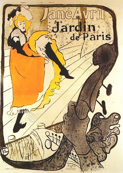 toulouse lautrec jane avril at the jardin de paris 1893 I cancan expand
