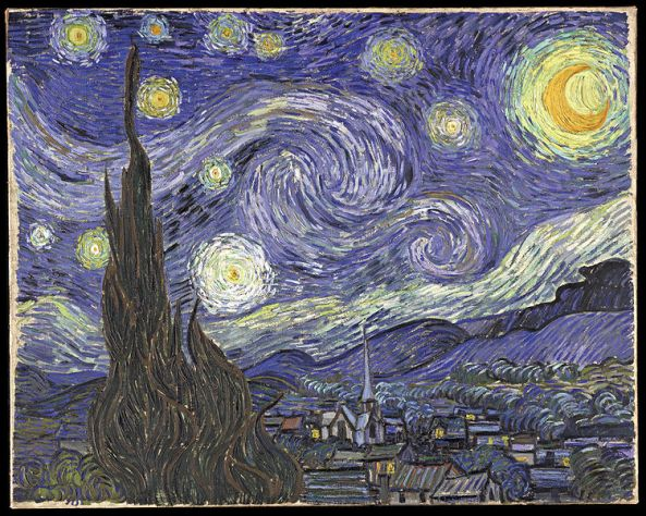 Vincent van Gogh, symbolisme, kosmos,  Sterrennacht, 1889 starry night