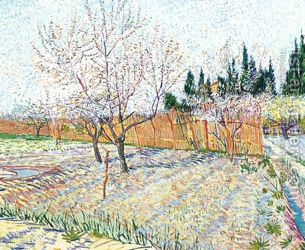 vincent van gogh orchard with peach trees in blossom april 1888.html De lente bij Vincent van Gogh