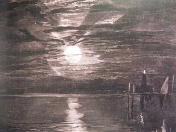 william turner vuurtoren van shields maan moon 1826 Vuurtorens bij Ensor, Mondriaan en anderen